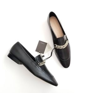 Zara leather chain loafer - size 9